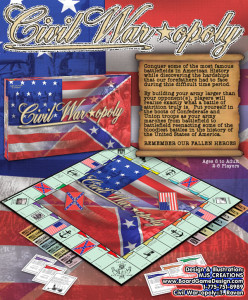 Custom Board Game Civil War-opoly